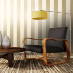 12761 Dillan Stripe Cream Gold Room